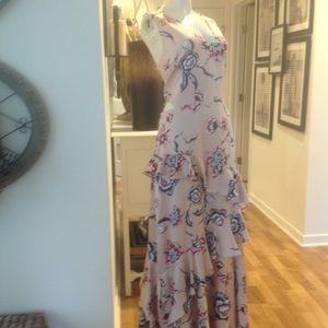 Rachel Roy blush pink floral maxi dress Size 10